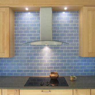 Fireclay Tile Recycled Line Sky Blue 3 x 6 field tile